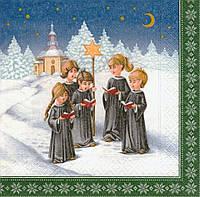 Коллекционная Декупажная салфетка Рождественское пение 6788