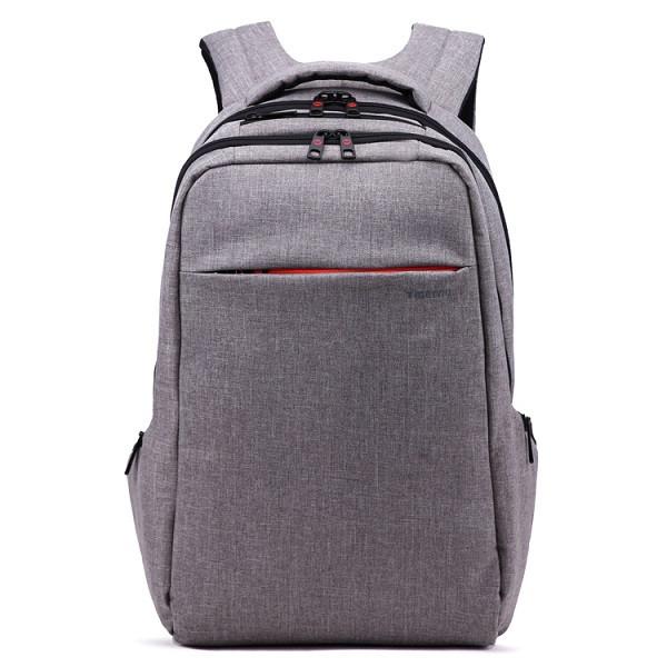 """рюкзак для ноутбука 15,6"""" Тigernu, светло-серый, вместительный, с отделением для ноутбука, тигерну, тайгерну"""