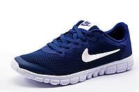Кроссовки Найк Free Run 3.0, мужские, темно-синие с белым, р. 41 42 43 44