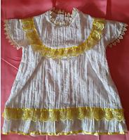 Батистовое нарядное платье на девочку 1 - 1,5 года