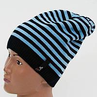 Демисезонная однослойная шапка для мальчика