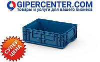 Пластиковый ящик RL-KLT 4147 с гладким дном (396х297х147.5 мм) голубой