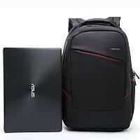 """Рюкзак с ортопедической спинкой для ноутбука до 15.6"""" Тigernu, черный с красным, фото 1"""