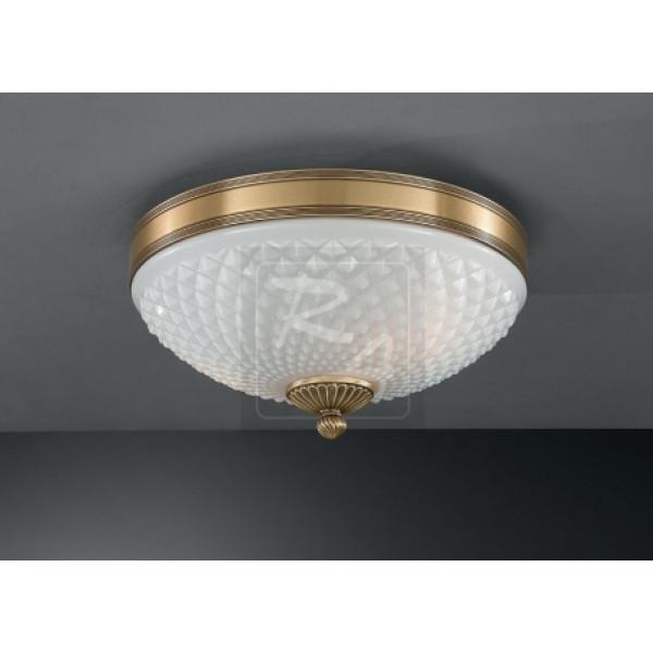 Потолочный светильник RECCAGNI ANGELO PL 8400/2 bronzo arte/bianco