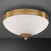 Потолочный светильник RECCAGNI ANGELO PL 8500/2 oro/ bianko