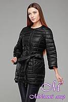 Женская черная весенняя куртка-плащ (р. 42-54) арт. Белла