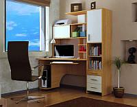 Компактный компьютерный стол с принтом Сан-Марко, Венге темный+Крем Ольха+Крем