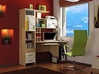 Компактный компьютерный стол с принтом Сан-Марко, Венге темный+Крем Орех больния светлый+Крем с принтом