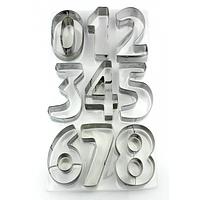 """Вырубка кондитерская """"Цифры"""" 7 см 3,5 см металлическая"""