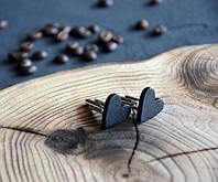"""Запонки из дерева """"Сердце"""""""