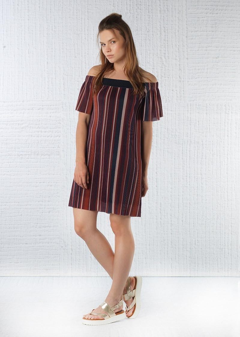 Платье женское Jimmy Key JK 1204001 LANO STR PLS BORDOEUX