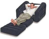 Надувное кресло кровать Intex 68565 109х218х66 / надувная кровать