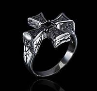 Кольцо из серебра Мальтийский крест