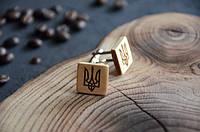 """Запонки из дерева """"Герб Украины"""""""