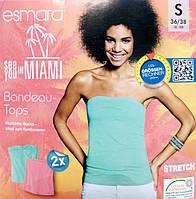 Топ топик женский летний розовый хлопок сток Германия Esmara евро S 36 38
