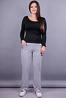 Барса. Женские спортивные штаны больших размеров. Серый., фото 1
