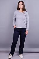 Барса. Женские спортивные штаны больших размеров. Синий.