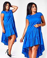 Платье стрейч коттон электрик батал, фото 1