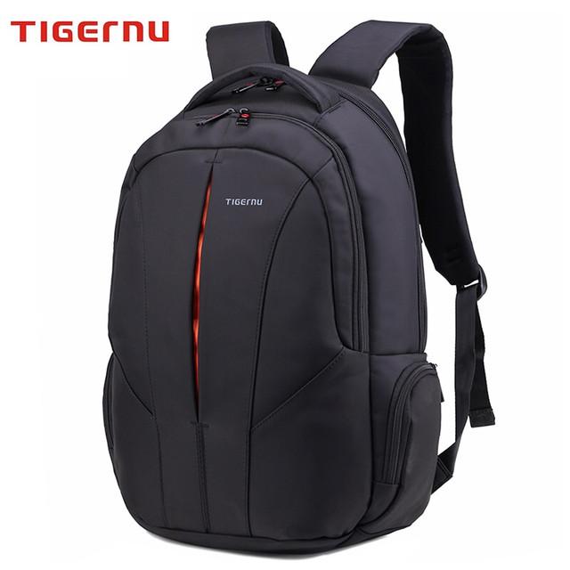 """рюкзак для ноутбука 15,3"""" Тigernu, черный с оранжевым, вместительный, с отделением для ноутбука, тигерну. тайгерну"""