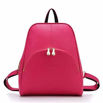 Рюкзак жіночий міський Maria з кишенею (рожевий)