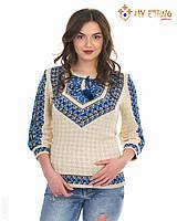 Женская рубашка вязаная Полуботок ультра (рукав 3/4), фото 1
