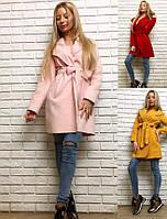 Женское весеннее легкое пальто на запах