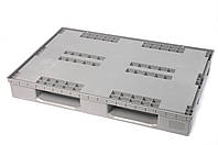 Полимерный поддон на полозьях для PolyBox 1200х800х160 мм (02.106.91) серый