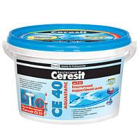 Затирка Ceresit СЕ-40 Аquastatic голубой 2 кг
