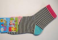 Высокие детские носки в черно-белую полоску с цветным пирожным, фото 1