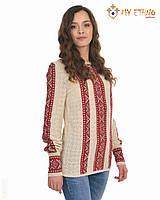 Женская рубашка вязаная Маринка светло-красная, фото 1