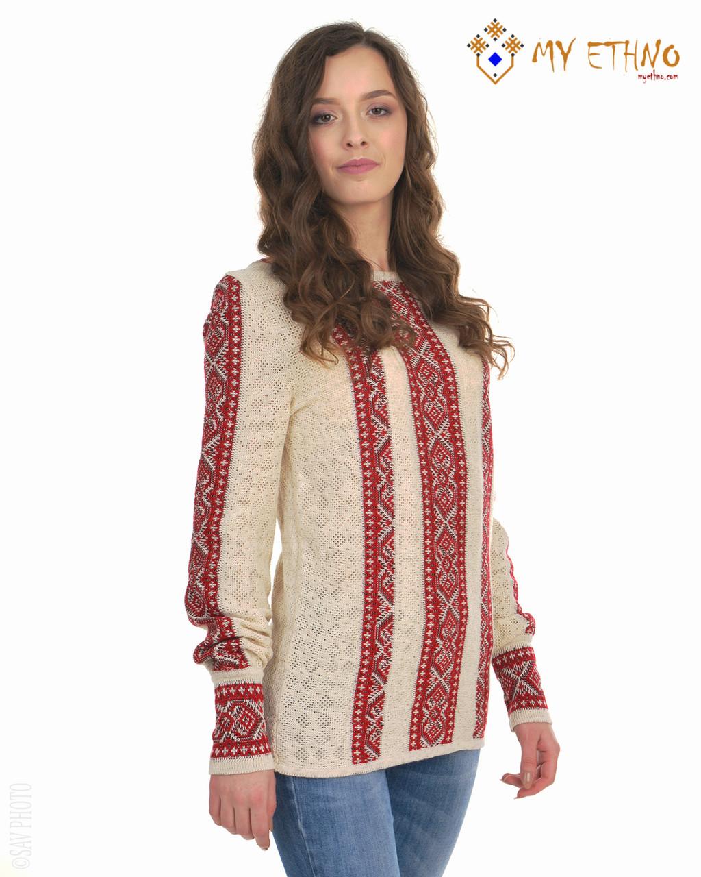Женская рубашка вязаная Маринка светло-красная