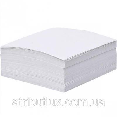 Блок 100 листов 80х80мм белый офсет, проклеенный край.