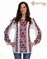 Женская рубашка вязаная Роза красная (х/б), фото 1