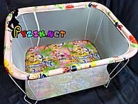 """Манеж детский с мелкой сеткой Kinderbox """"Джунгли"""", фото 1"""