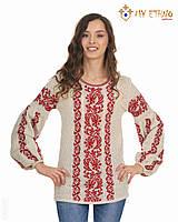 Женская рубашка вязаная Львовянка красная, фото 1