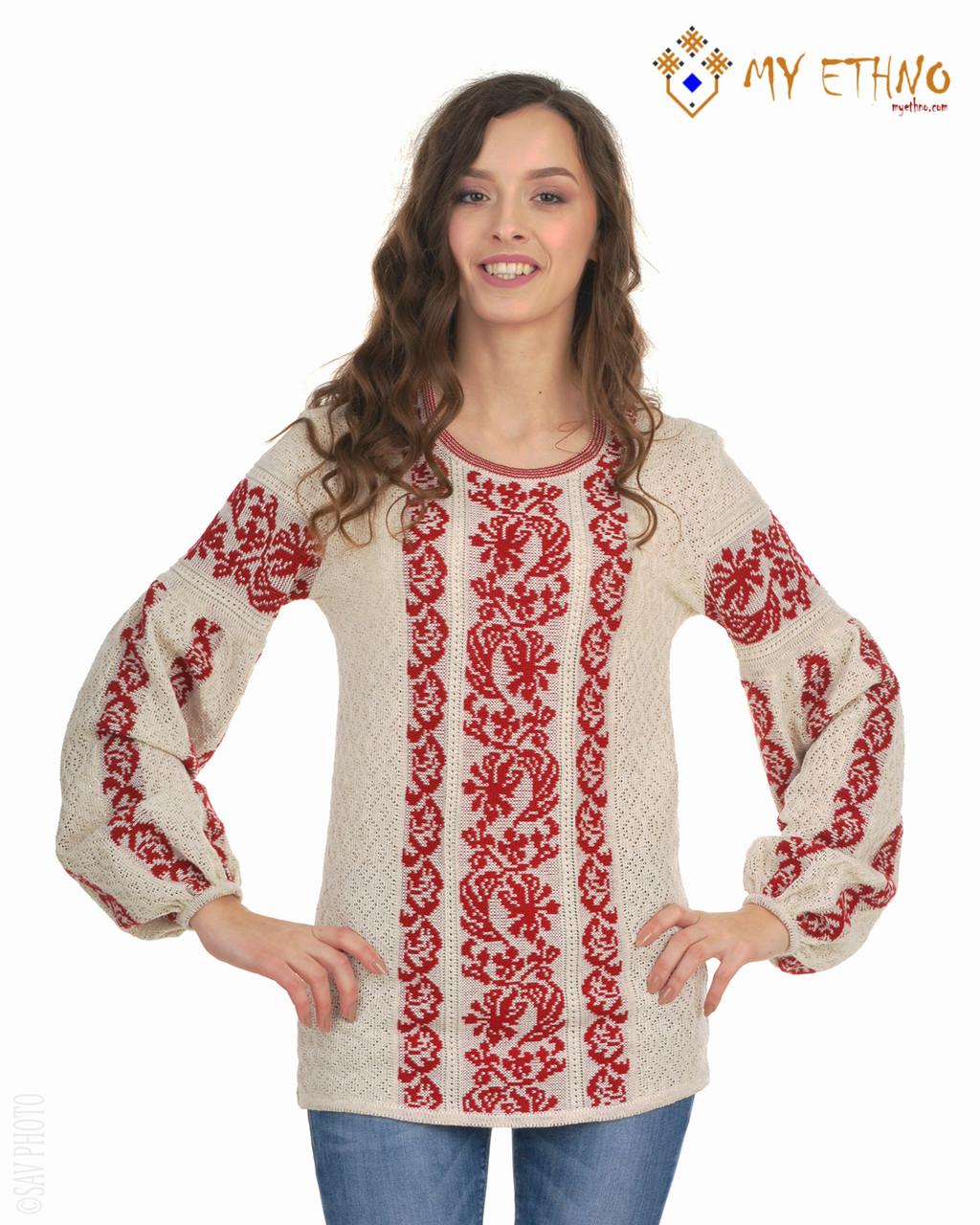 Женская рубашка вязаная Львовянка красная