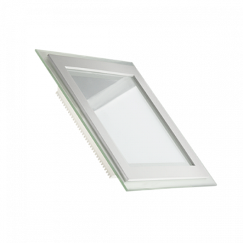 Светододный світильник LED 6W 6500К (КВАДРАТ + СКЛО)