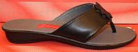 Шлепанцы женские кожаные, летние босоножки от производителя модель СТЛ18