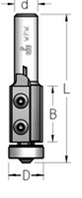 Фреза обгонная с нижним подшипником со сменными ножами   В = 30 мм, хвостовик = 8 мм.