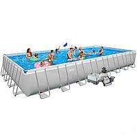 Каркасный бассейн Intex 28378. Ultra Frame Rectangular Pool 975 х 488 х 132 см