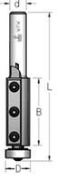 Фреза обгонная с нижним подшипником со сменными ножами   В = 50 мм, хвостовик = 12 мм.