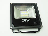 Светодиодный прожектор LED 20W Slim премиум SMD (черный)