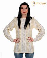 Женская рубашка вязаная Маринка белая (лен), фото 1