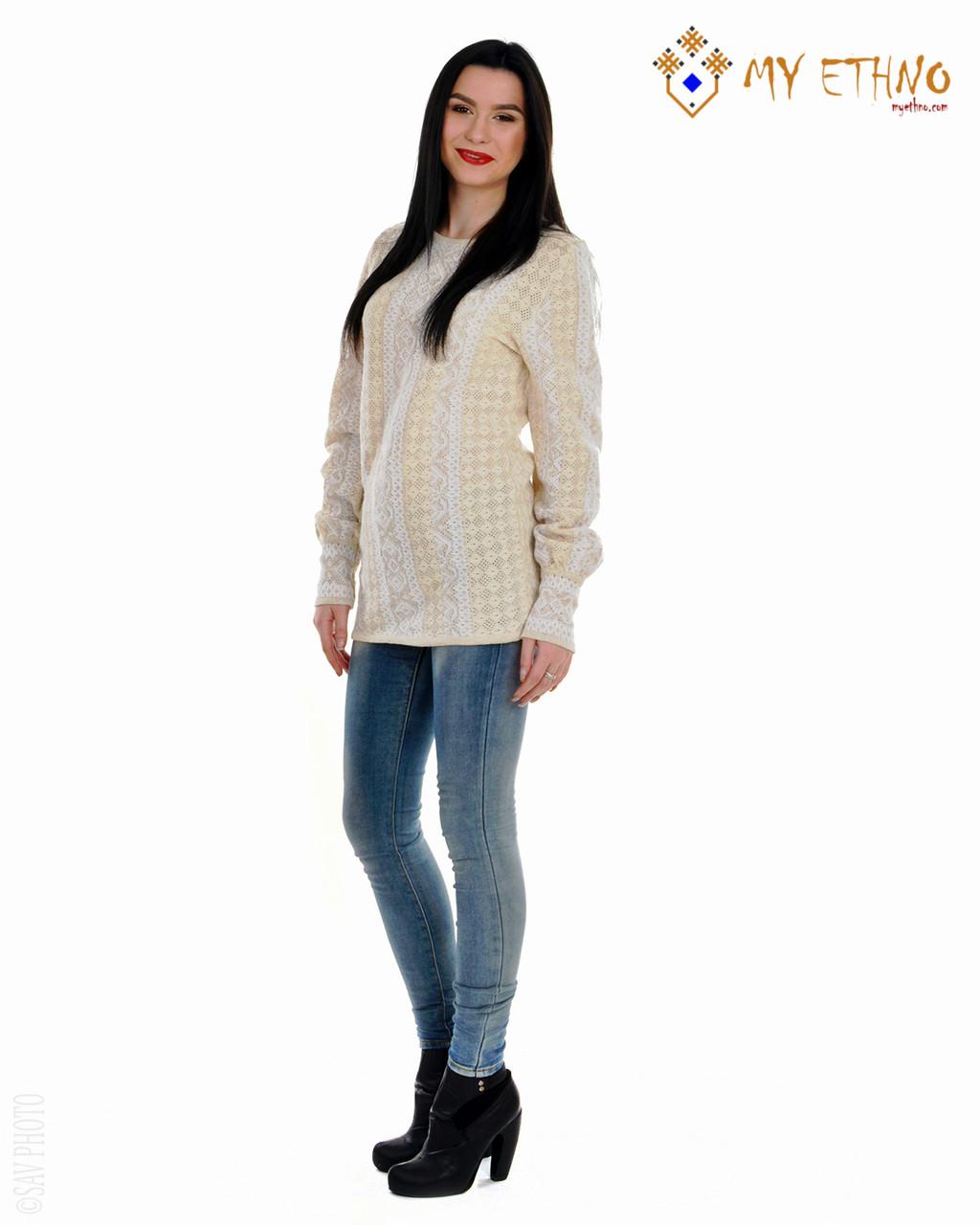Женская рубашка вязаная Маринка белая (лен)