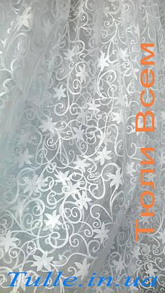 Тюль органза печатка белая, фото 2