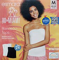 Топ топик женский летний белый хлопок сток Германия Esmara евро S 36 38