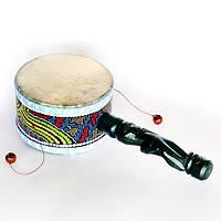 Барабан расписной с ручкой