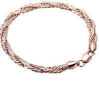 Браслет Многоуровневое плетение покрытие 18К золото