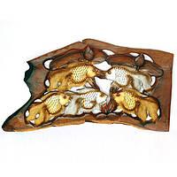 Панно Золотые рыбки - 5