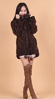 Норковый полушубок, куртка из скандинавской вязанной норки